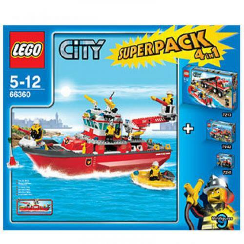 LEGO 66360 City Super Pack 4 in 1 (7207 7213 7241 7942) - Yasuee