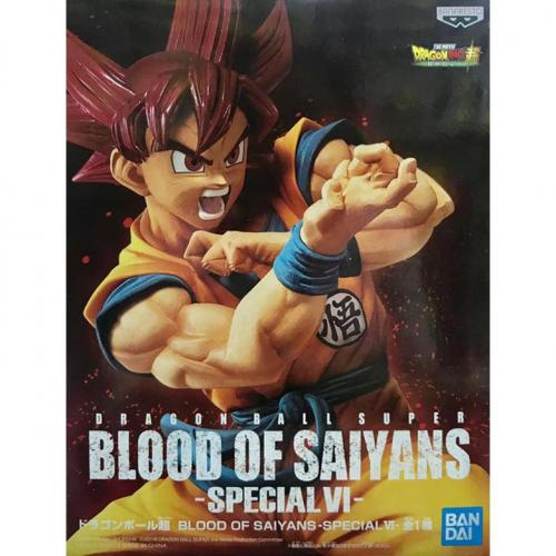 Banpresto Dragon Ball Super Blood of Saiyans Super Saiyan God Son Goku Figure - Yasuee