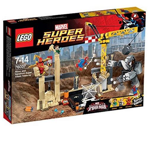 LEGO 76037 Super Heroes Rhino and Sandman Super Villain Team-Up - Yasuee