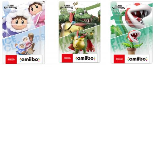 [Limited offer] Nintendo Amiibo ICE CLIMBERS KING K.ROOL PIRANHA PLANT Japan NEW