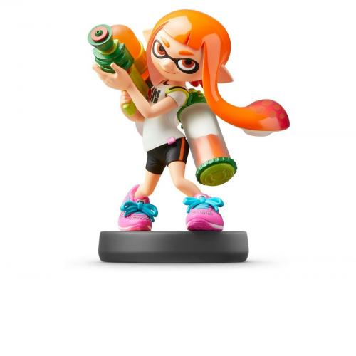 Nintendo Amiibo Inkling Girl SSB Super Smash Bros Series Switch Wii Rare Orange