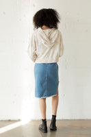 Raw Hem Cutout Skirt