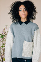 Assembled Knit Sweatshirt