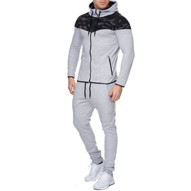 2 Pieces Men Tracksuit Hoodies Full Sleeve Zipper Closure Elastic Waist Casual Style Top and Pants Outfits/ WON'T BE BEAT/ FREE SHIPPING/URPOSTURE.COM