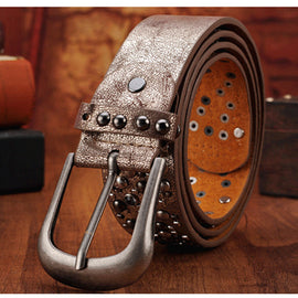 Belt  Rhinestone Men&Women's Studded Belts  Male Leather Rock Women Strap