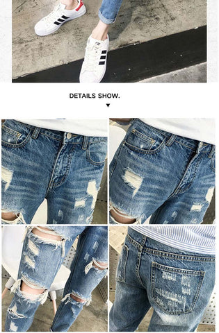 Destroyed Ripped Skinny Jeans |  Destroyed Ripped Jeans |  UrPosture.com