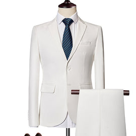 Men 3 Pieces Suits Jacket Vest Pant for Wedding, Party , Work