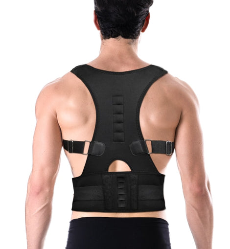 Male Female Adjustable Magnetic Posture Corrector Corset Back Brace Back Belt Lumbar Support Straight Corrector  Small-4XL
