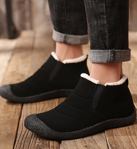Men Winter Ankle Boots Velvet Keep Warm  Working Snow Boot