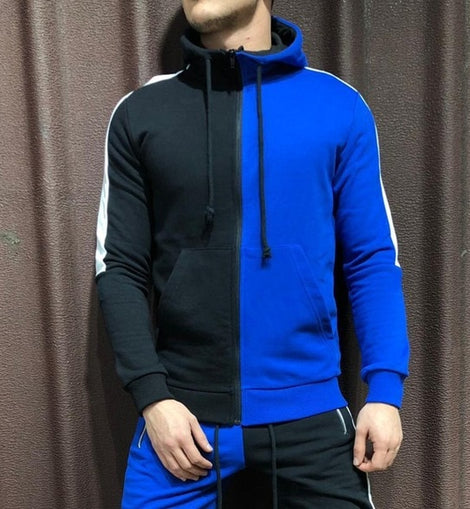 2 Pieces Men Zipper Tracksuit Hoodies Jacket Pant Sport O Neck Suit Full Sleeve Casual Style / WON'T BE BEAT/ FREE SHIPPING/URPOSTURE.COM