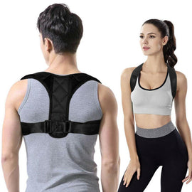 Adjustable Brace Support Belt - Clavicle Spine Back Shoulder Lumbar Posture Correction -  Back Posture Corrector