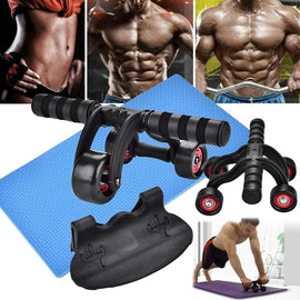 NOISE FREE ABDOMINAL AB WHEEL ROLLERS FITNESS EQUIPMENT WITH MAT FOR EXERCISE/ WON'T BE BEAT/ FREE SHIPPING/URPOSTURE.COM
