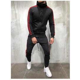 2 Pieces Men Zipper Tracksuit Hoodies Jacket Pant Sports V Neck Suit Full Sleeve Casual Drawstring Style / WON'T BE BEAT/ FREE SHIPPING/URPOSTURE.COM