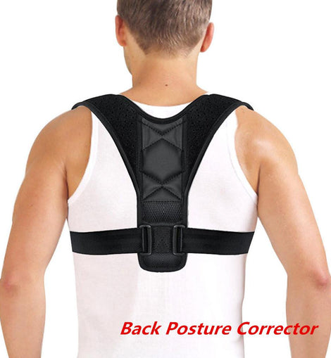 Adjustable Breathable Back Posture Corrector for Men, Women, Teens - Clavicle Spine Back Shoulder Lumbar Brace Support Belt Posture Correction Body for Slouching and Hunching