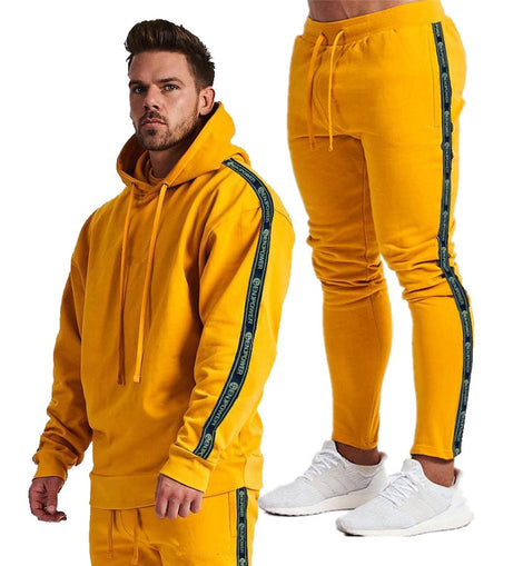 2 PIECES MEN BODYBUILDING SPORTS TRACKSUITS HOODIES WITH PANTS O NECK CASUAL STYLE DRAWSTRINGS / WON'T BE BEAT/ FREE SHIPPING/URPOSTURE.COM