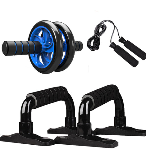 ABDOMINAL PRESS WHEEL ROLLER HOME FITNESS EQUIPMENT WITH PUSH UP BAR JUMP ROPE/ WON'T BE BEAT/ FREE SHIPPING/URPOSTURE.COM