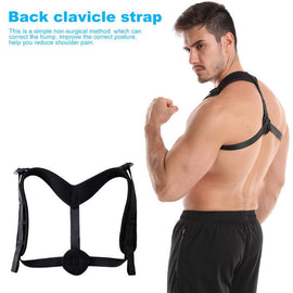 Buy Adjustable Back Clavicle Spine Posture Corrector Fixed Relieve Pain Belt for Men Women Back Clavicle Strap Fitness Accessories
