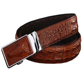 Genuine leather belts for men Wide luxury  crocodile automatic alloy buckle  cow skin strap