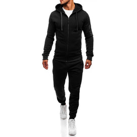 2 PIECES MEN WINTER ZIPPER TRACKSUIT CASUAL STYLE HOODED PULLOVER LONG SLEEVE ONECK DRAWSTRING/ WON'T BE BEAT/ FREE SHIPPING/URPOSTURE.COM