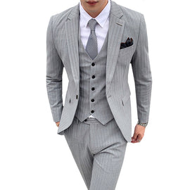 Buy Nice Men 3 Pieces  Suits Jacket Vest Pant for Wedding, Party, Work