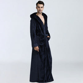 Men Winter long thick bathrobes Sleepwear Nightwear Casual Sleep  men's sleep & lounge