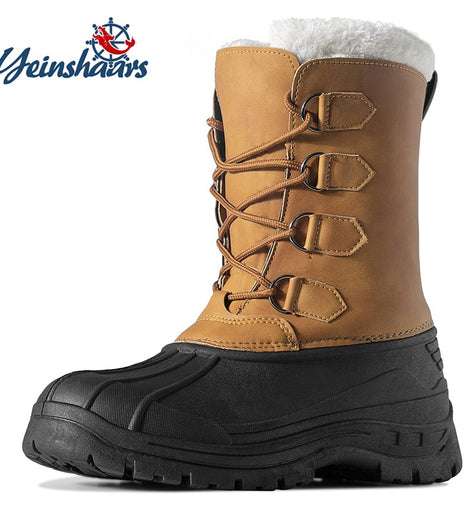 Men Thicken Fur Winter Shoes  Waterproof Snow Boots