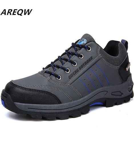 Men Snow Boots  Safety Shoes Anti-slip Anti-smashing  Work Boots