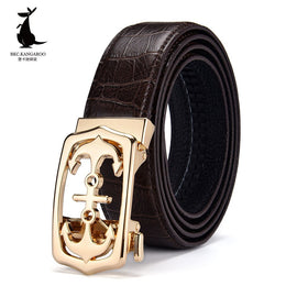 Men Genuine Cow Leather Belts Luxury High-Quality Automatic Buckle