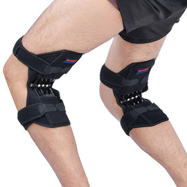 Power Lift Breathable Spring Force Knee Pads 1 Pair Non-slip Joint Support Tendon Brace Band UrPosture.com
