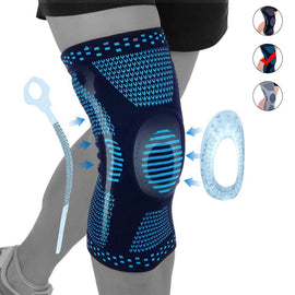 Perfect Silicone Knee Brace | Knee Brace Silicone 2020 | Knee Brace with soft and large Silicone Pad and a double-sided flexible metal stabilizer