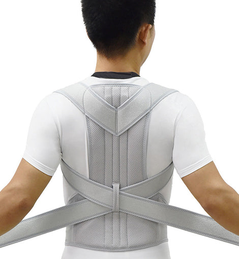 UrPosture Poor Posture Correction Silver Belt Shoulder Therapy Support For Men Scoliosis Back Brace Spine Corset Upper Back