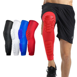 Breathable Compression Knee Calf Sleeves Knee Pads Hiking Cycling Protectors Support Brace 1PCS