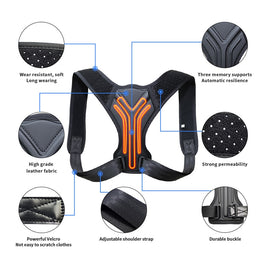 Adjustable Back Support Posture Corrector | Back Brace | UrPosture.com fig2