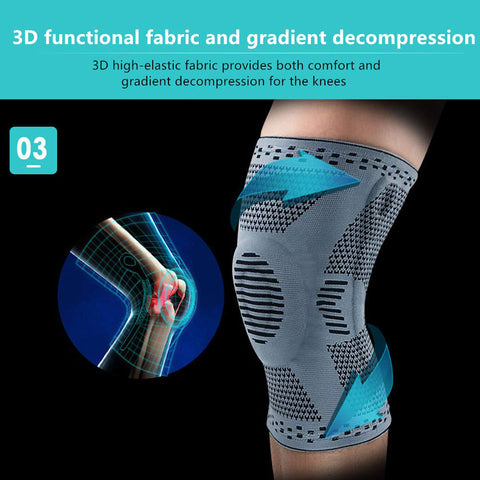 Perfect Silicone Knee Brace | Knee Brace Silicone 2020 | Knee Brace with soft and large Silicone Pad and a double-sided flexible metal stabilizer   fig2