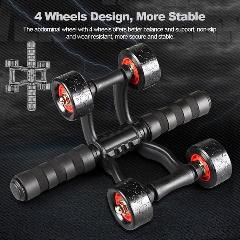 Ab Roller Wheel Abdominal Abs Exercise |ab wheels roller stretch elastic abdominal resista | UrPosture.com