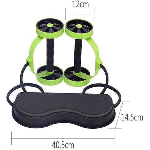 Ab Wheel Double Roller with Resistance Bands | ab roller wheels with rope | UrPosture.com
