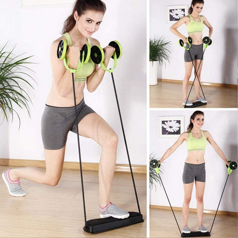 Ab Wheel Double Roller with Resistance Bands |ab roller for abs workout | UrPosture.com