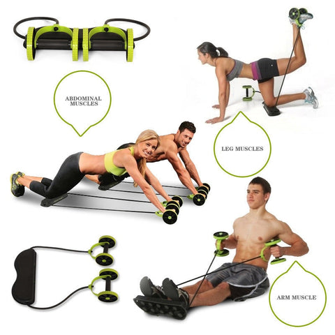 Ab Wheel Double Roller with Resistance Bands | Best Ab Roller | UrPosture.com