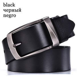Men high-quality genuine leather belt strap jeans cow leather