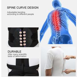Buy Adjustable Posture Corrector Waist Shoulder Brace Back Support Belt for Men Women Kids Back Shoulder Support