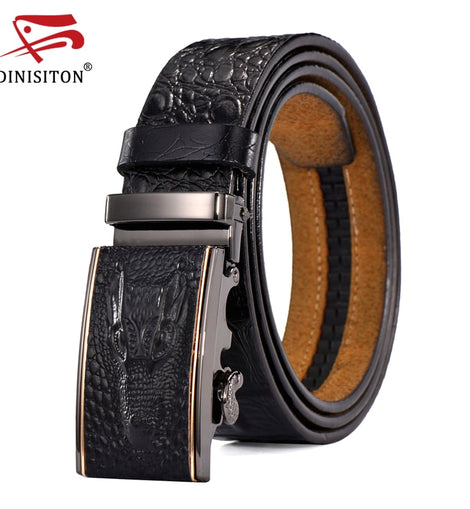 Genuine leather belts For Man Crocodile  Luxury Strap