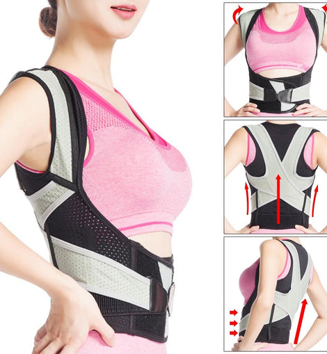 Buy Newly Posture Corrector Brace Upper Back Correction Comfortable Breathable For Women Men Sport