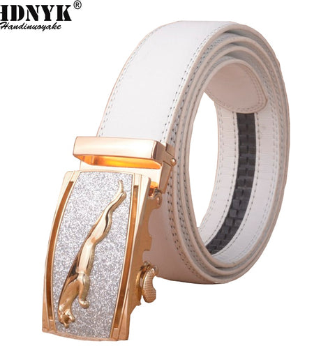 High-grade Bentley Unisex Automatic Buckle Belts Men Genuine Leather Luxury