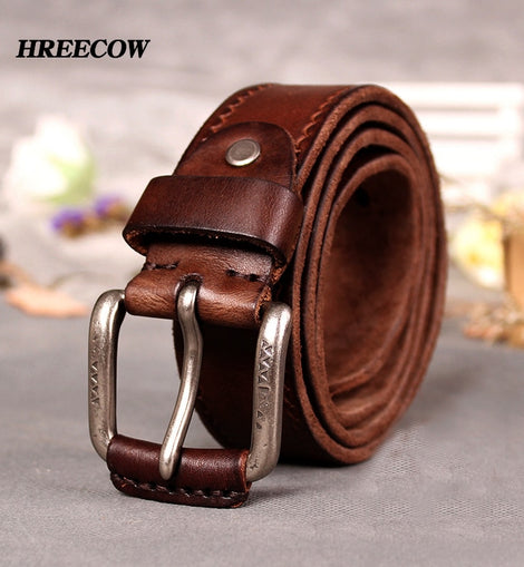 Cow Genuine Leather Belts male belt for jeans