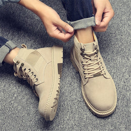 2020 Men Genuine Leather Winter Outdoor Travel Military Boots Non-slip Sports Desert Boots