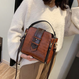 Women Bucket Bag 2020  Fashion Small Crossbody Bags Zippers PU Leather Shoulder Bag Handbags and Purses