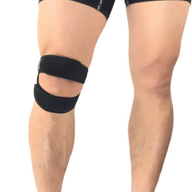 Pressurized Knee Wrap Brace Elastic Pad Basketball Tennis Cycling Bandage 1pcs