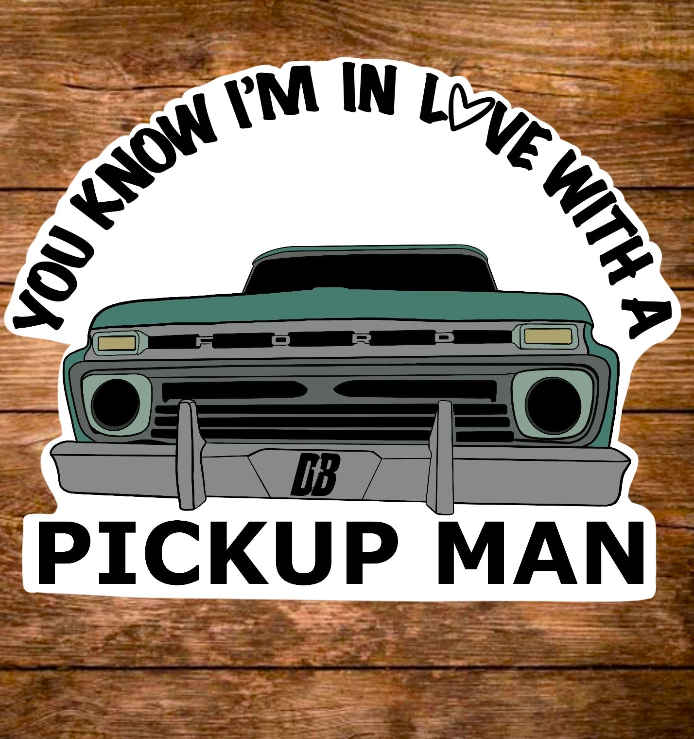 Pickup Man Sticker