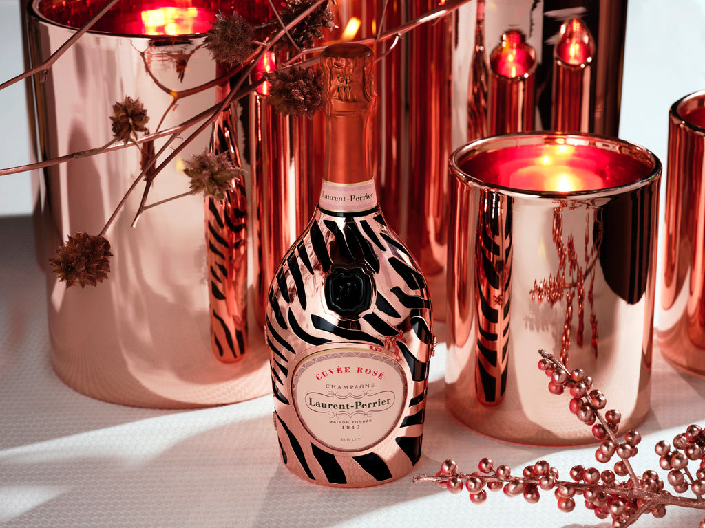 Laurent Perrier Rose Champagne Tiger Robe  75cl