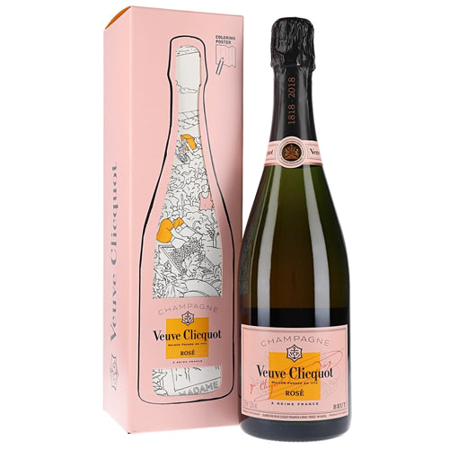 Veuve Clicquot Rose NV Champagne Yellow Label 75cl Artist's Gift Box